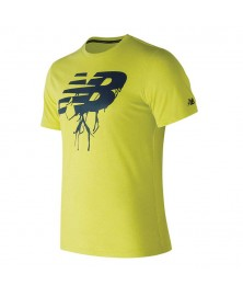 New Balance HEATHER TECH SHORT SLEEVE SHIRT (HIL)