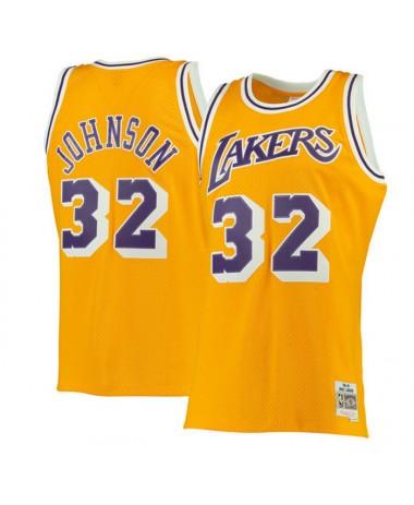 Mitchell & Ness Swingman Jersey Magic Johnson 1984-85 Lakers (353J302FGYEJH)