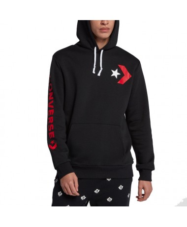 Converse Men Star Chevron Oversized Pullover Hoodie (10007048-A02-001)