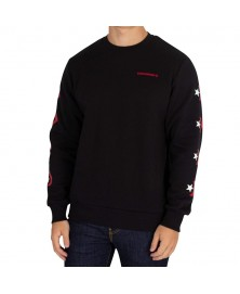 Converse MEN STAR CHEVRON GRAPHIC PULLOVER CREW (001)
