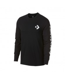 Converse STAR CHEVRON WORDMARK LONG SLEEVE T-SHIRT (001)