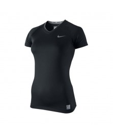 Nike CORE TIGHT COMPRESSION SHORT SLEEVE V NECK (010)