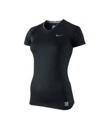 Nike CORE TIGHT COMPRESSION SHORT SLEEVE V NECK (010)