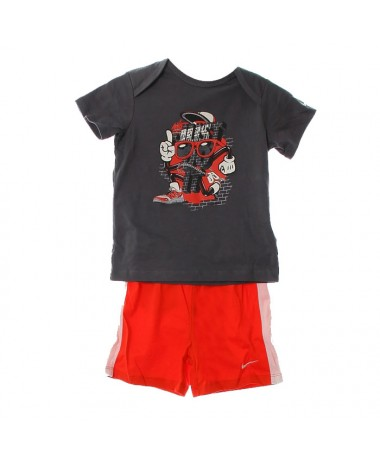 Nike Infant T-Shirt+Shorts Set (605748-021)