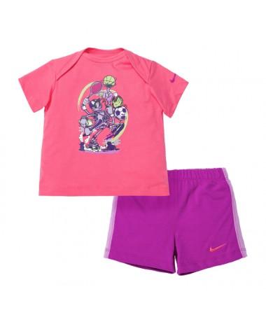 Nike Infant T-Shirt+Shorts Set (644513-627)