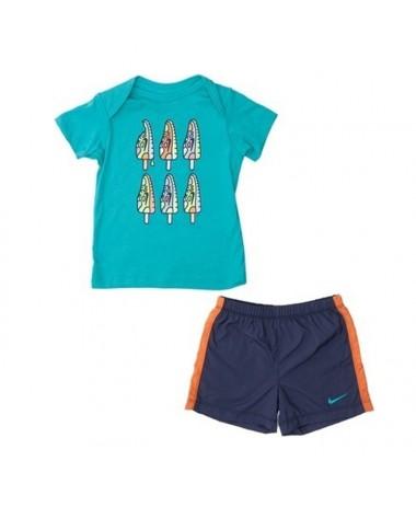 Nike Infant T-Shirt+Shorts Set (644514-405)